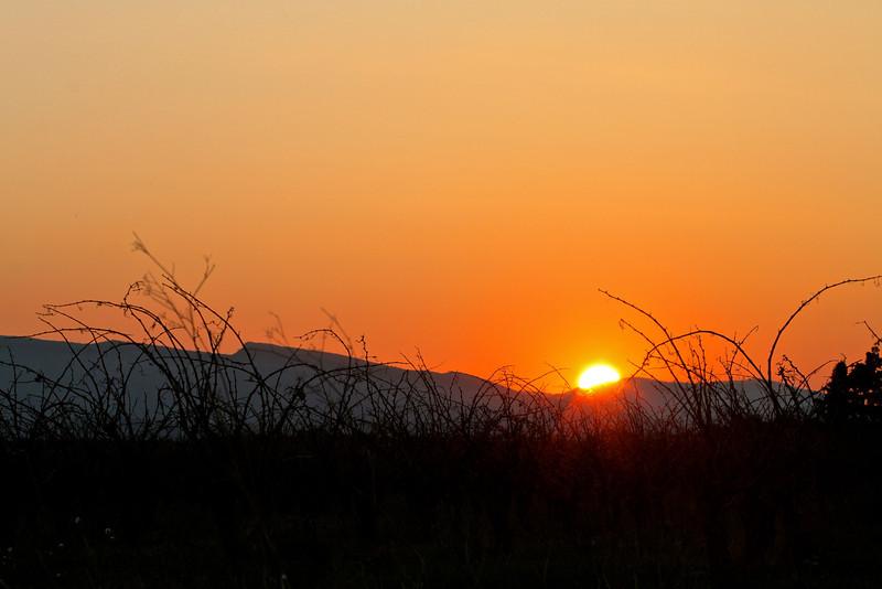 Coucher de soleil en Corbières