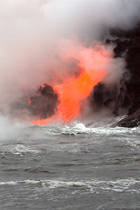 Kilauea lava flow, Big Island, Hawaii, Pacific