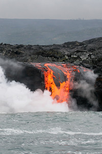 Kilauea lava flows in to the ocean, Big Island, Hawaii, Pacific Ocean