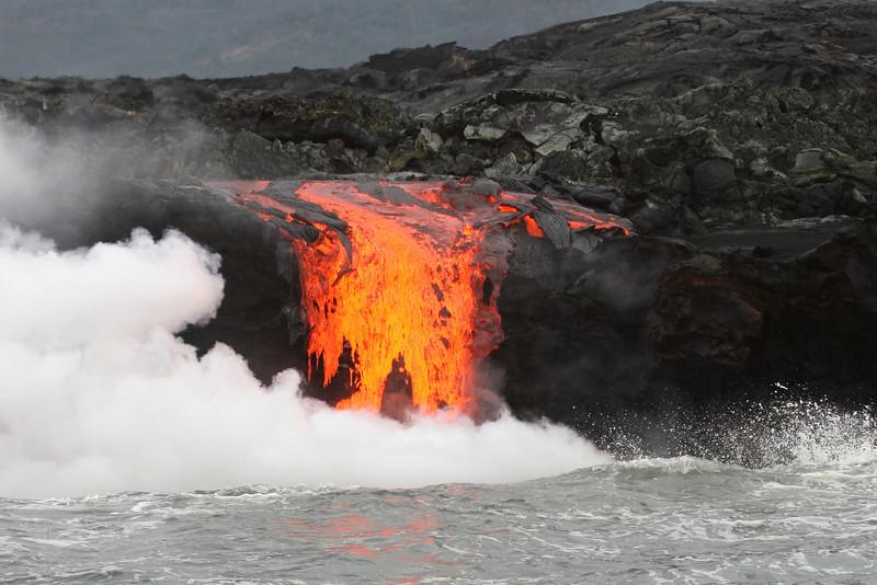Kilauea lava flow, Big Island, Hawaii, Pacific