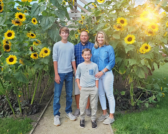 Son Family Sunflowers Sunflare 8x10