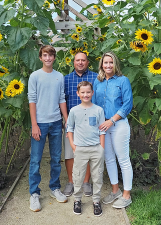 Son Family Sunflowers Vertical 5x7