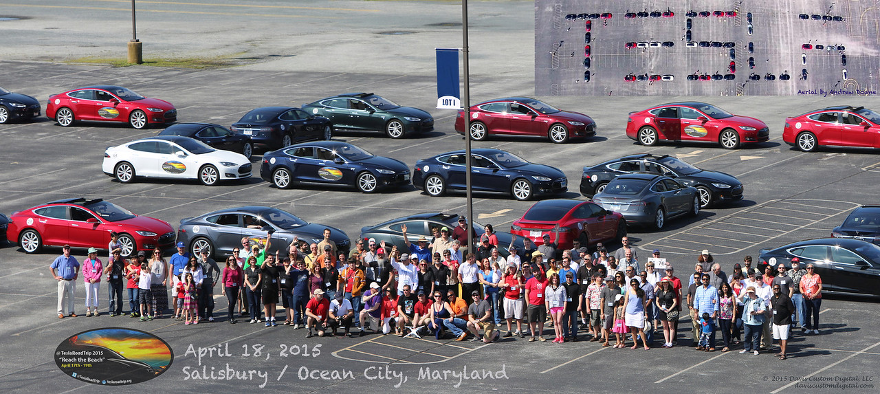 Salisbury, MD - Purdue Stadium @TeslaRoadTrip Family Photo