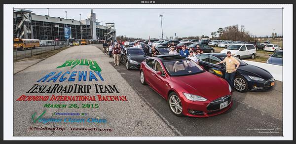 TeslaRoadTrip Commemorative Photo - 2015 Rally at the Raceway