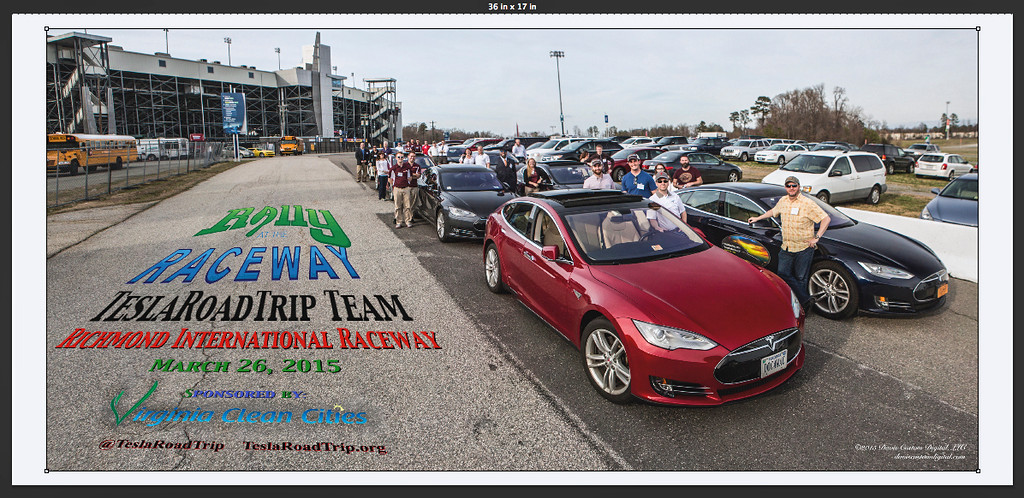 TeslaRoadTrip Commemorative Photo - 2015 Rally at the Raceway