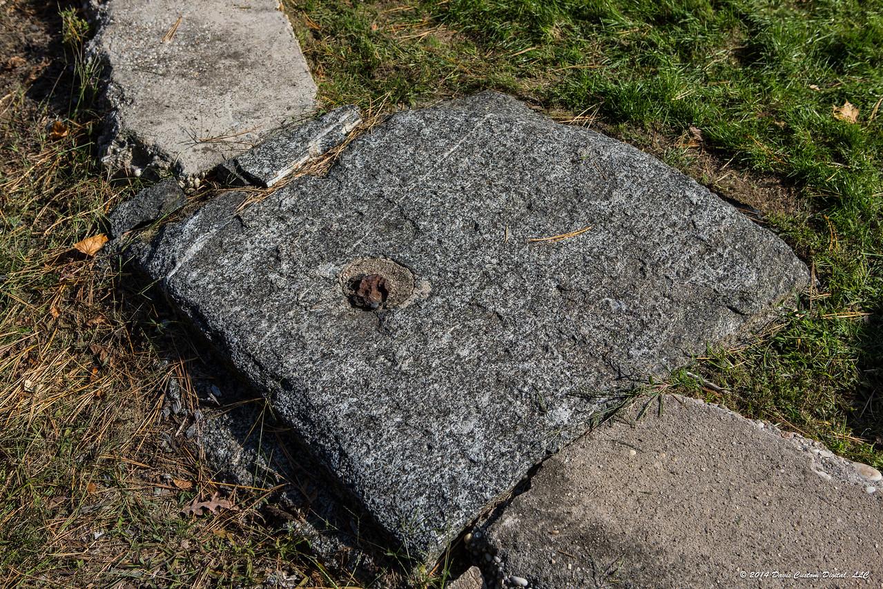 Anchor pedestal of the original Wardenclyffe Tower