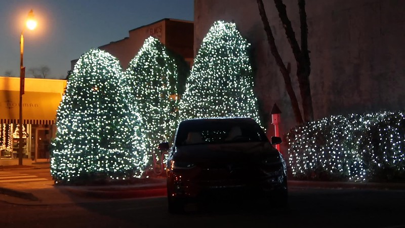 Tesla Ruby Holiday Light Show #1 Fuquay