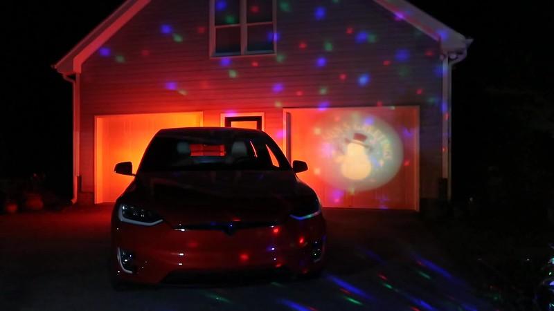 Tesla Ruby Holiday Light Show #3 Garage