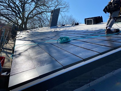 Tesla Solar Roof Instlation Glenview, IL