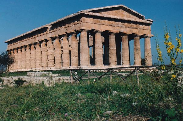 Peastum Greek  Temple, near Naples, taly