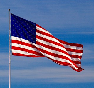 """I found this huge high flying """" American Flag """"  in  the State of Iowa...."""