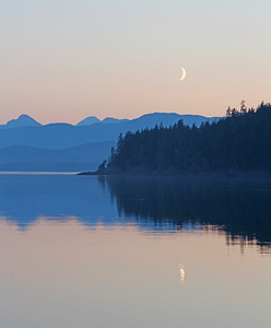 Moon and Shore Reflection, Alaska