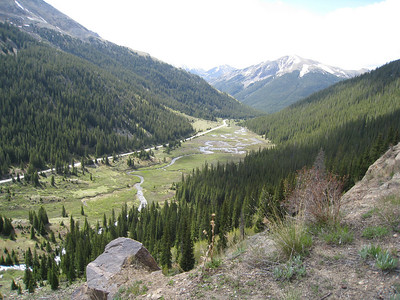 Looking down from Independence Pass towards Twin Lakes, Co (between Aspen and Leadville)