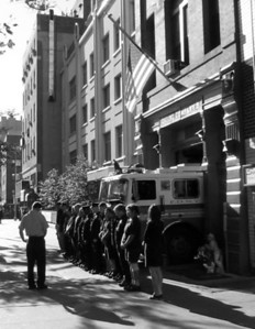 FDNY Engine Co 5 observing moment of silence, 8:46am 9/11/2010