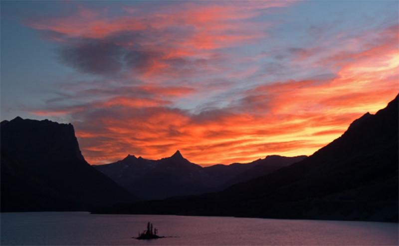 SunsetGlacierGooseIsland