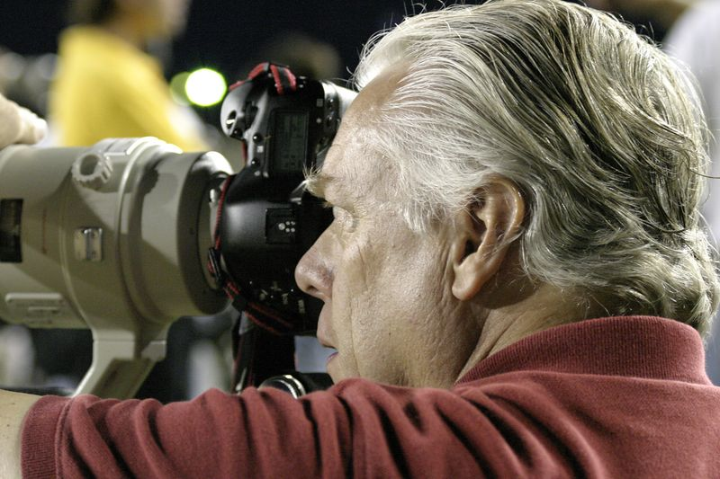 James Wilson with Canon digital equipment.  This image captured as a curtesy of Gus Botta, Fort Lauderdale, Florida at a 2004 NCAA sporting event.