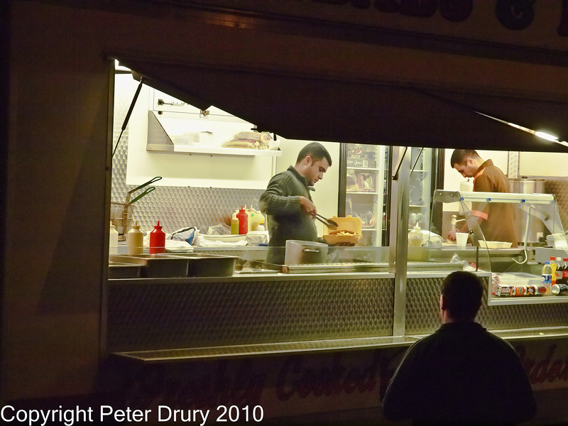 25 Nov 2010 - Kebab Bar, Hand-held ISO 3200 & 6400. Copyright Peter Drury 2010. Part of E5 Tests E5 + Zuiko Digital 12-60mm, Aperture Priority, ISO 3200, f7.1, 1/50s