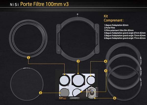 Porte filtre en aluminium V.3 100mm (FR)