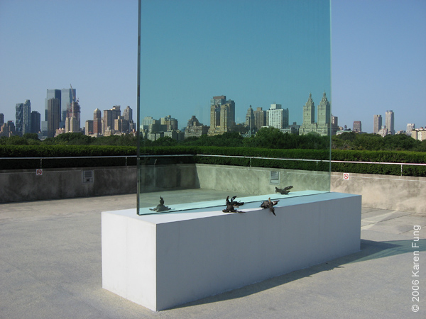 """Cai Guo-Qiang's """"Transparent Monument"""" on the roof of the Metropolitan Museum of Art"""