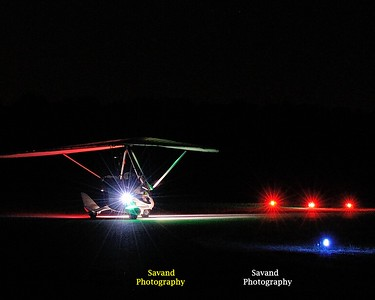 6-1-13  Jamestown Airport - Ultralight Night trails