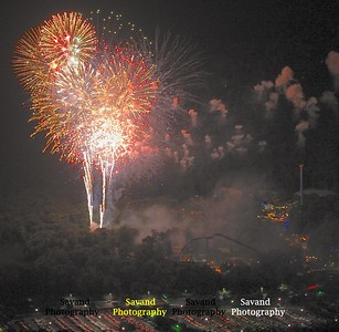 7-4-13 Fireworks from 2000 ft