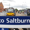 I couldnt get the whole sign in with Welcome to Saltburn the fence was <br /> <br /> just a little to high but this was next best shot i thought came out well <br /> <br /> 68 020 Reliance <br /> <br /> And Saltburn sign