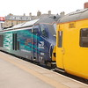 68 020 <br /> <br /> And Coach <br /> <br /> 977868<br /> <br /> which is part of the  Network Rail Radio Survey Train
