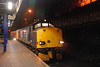 37 608 with 37 611 out of sight on the back sit in Plat 2 at Wigan Wallgate waiting for the Road to Liverpool