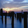 A color image of a blue beach sunset on Virginia's Eastern Shore