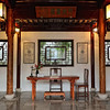 Chinese garden study in Vancouver, Canada - a color image