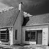 Abandoned Pure Oil building on Virginia's Eastern Shore – an hdr black and white infrared image