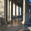 Walkway arches of the Memorial Ampitheater at Arlington National Cemetery - a color image
