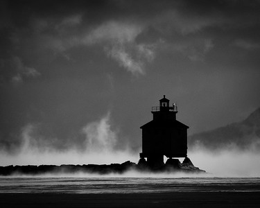 Lighthouse & Sleeping Giant in winter