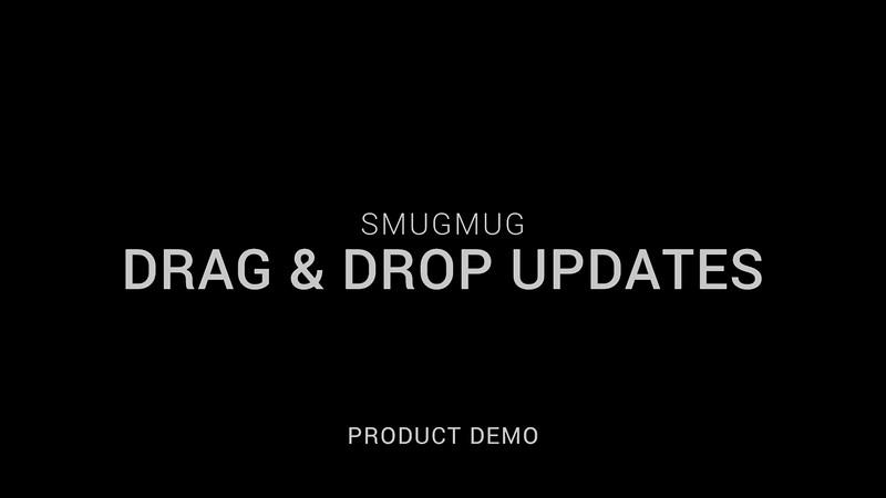 SmugMug Drag and Drop Improvements
