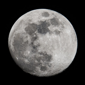 Waxing Gibbous moon, March 2018