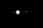 Jupiter and moons, Oct 22, 2010.