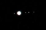Jupiter and moons, Oct 22, 2010.
