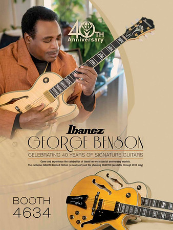 George Benson, 40 Years with Ibanez Guitars NAMM 2017 UpBeat Magazine