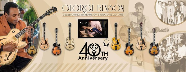 George Benson, Ibanez 40th Anniversary NAMM 2017 Booth Guitar Wall