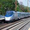 While waiting for my train, I get the pictures started with an Acela nearing the end of its run to Washington.