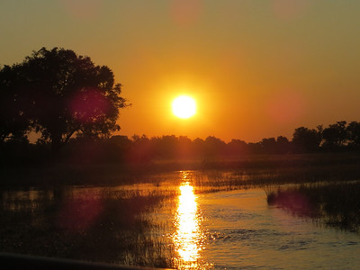 Sun setting on the delta...
