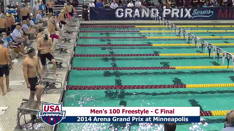 Mens 100 Freestyle
