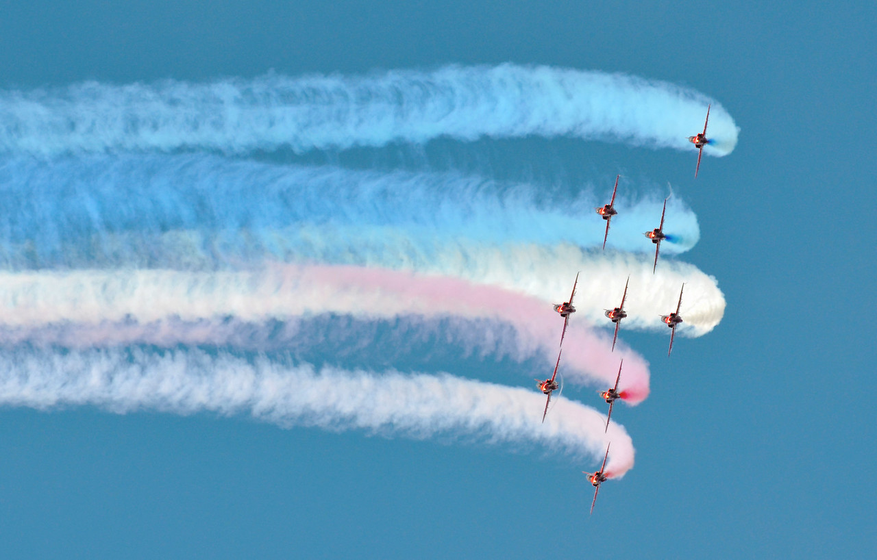 Red arrows in action.