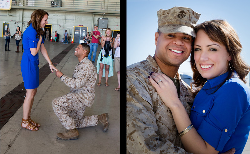 Hey Pam!  The pictures of Sergio's deployment homecoming and his surprise marriage proposal and video you made us are absolutely beautiful! <br /> Sergio and I just finished looking at everything, and we are so so so happy with it all! You did a fantastic job, we cannot thank you enough. <br /> <br /> We cannot wait to share it with our family and friends! <br /> <br /> Thanks so so so much! We will definitely be in touch for our future wedding, we would love for you to be our photographer!<br /> <br /> Thanks again,<br /> <br /> Lauren and Sergio