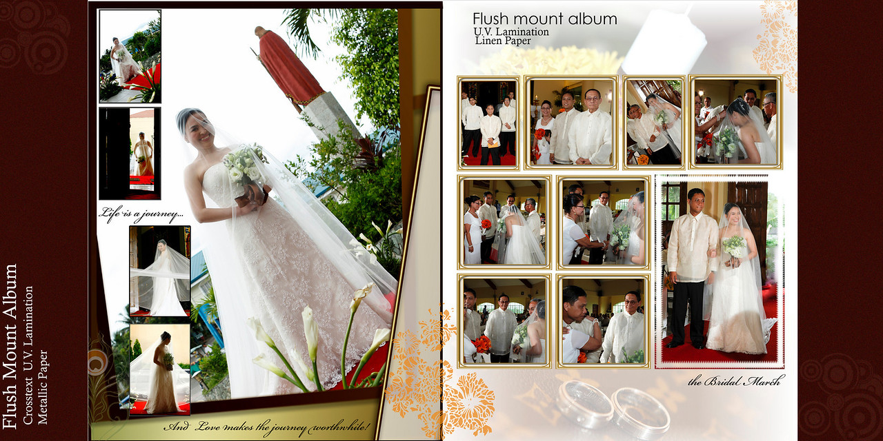 Flush Mount Album printed in Metallic paper are also a sure hit to some couples.