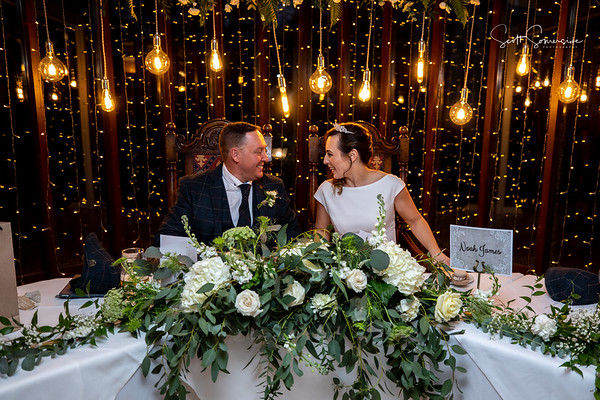 Eve and Rob at Netherwood Hotel, Grange-Over-Sands