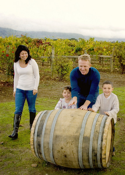 Julie,  I just wanted to say Thank You for the Fantastic job you did on our family portraits.  I really love that they were so natural and fun.  The kids had fun strolling through the vineyards and especially rolling the wine barrel around. These photos are my favorite hands down!  We get sooo many compliments on them!  I'll be sure to refer our friends to you.  Thanks again! RB ~ Napa