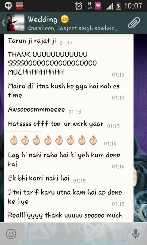 Appreciation of from Sheena Shawney - Delhi india