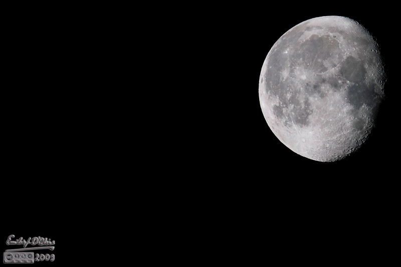 """Probably the best shot of the moon I've ever taken.  For being up there, big as  . . . the moon, it's surprisingly hard to get good shots (at least for me). (double-click on the image above to see larger, and you can also choose """"O"""" for Original)"""
