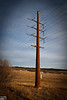 There are a couple of impressive things about this shot; the cables appear straight, and all of the pole is in the frame, and I could not have been more than 30 feet away from it.